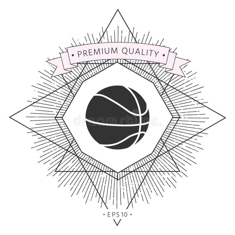 Koszykówki piłki ikona ilustracja wektor