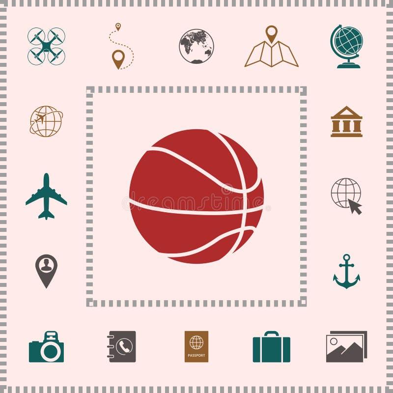 Koszykówki piłki ikona royalty ilustracja