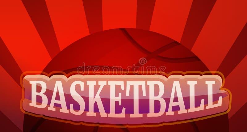 Koszykówki pojęcia sztandar, kreskówka styl ilustracji
