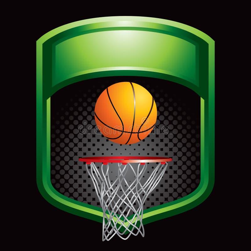 koszykówki pokazu zieleni obręcz ilustracja wektor