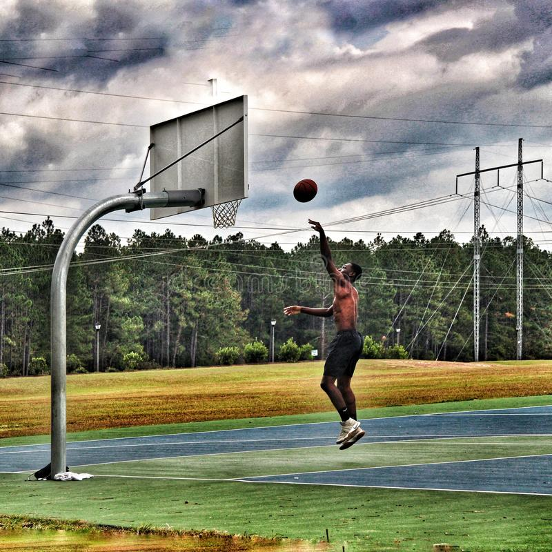 Koszykówki praktyka zdjęcia royalty free