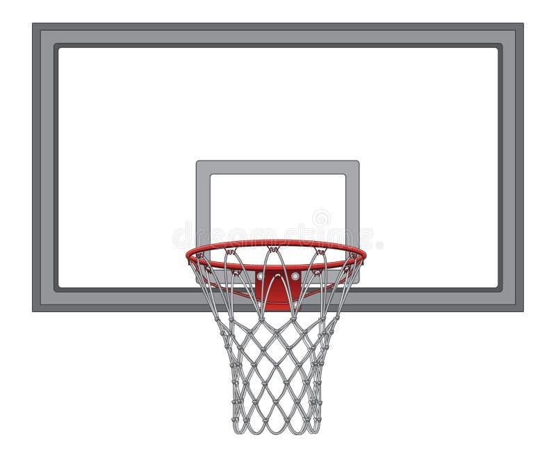 Koszykówki sieć Z Backboard royalty ilustracja
