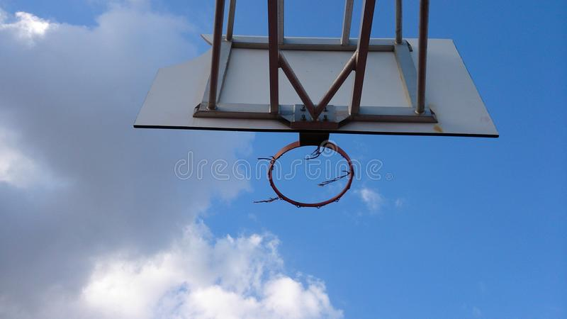 koszykówki stary netto zdjęcie stock
