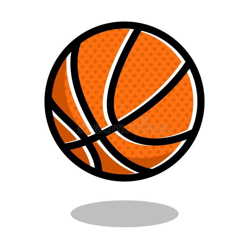 Koszykówki sztuki sporta loga wektoru linii 3d balowa gemowa ikona odizolowywająca ilustracja wektor