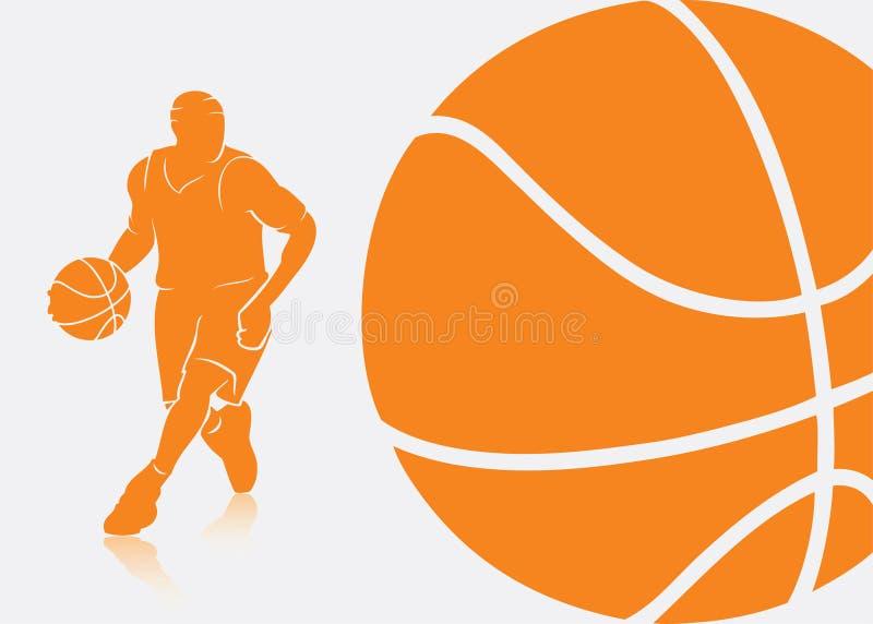 Koszykówki tło royalty ilustracja