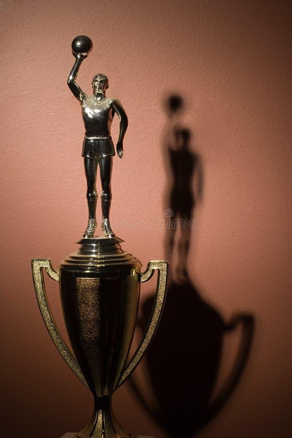Koszykówki trofeum zdjęcia stock