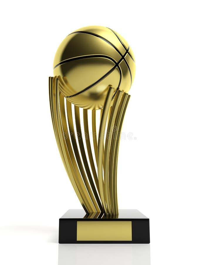 Koszykówki złoty trofeum ilustracji