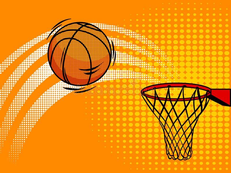 Koszykowa balowa wystrzał sztuki stylu wektoru ilustracja ilustracja wektor