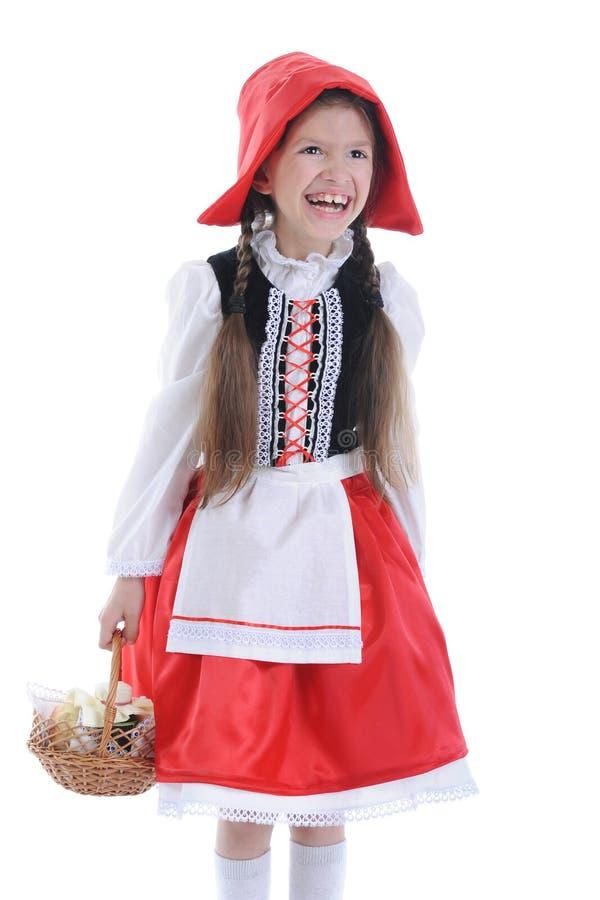 koszykowa nakrętki dziewczyny czerwień zdjęcie royalty free