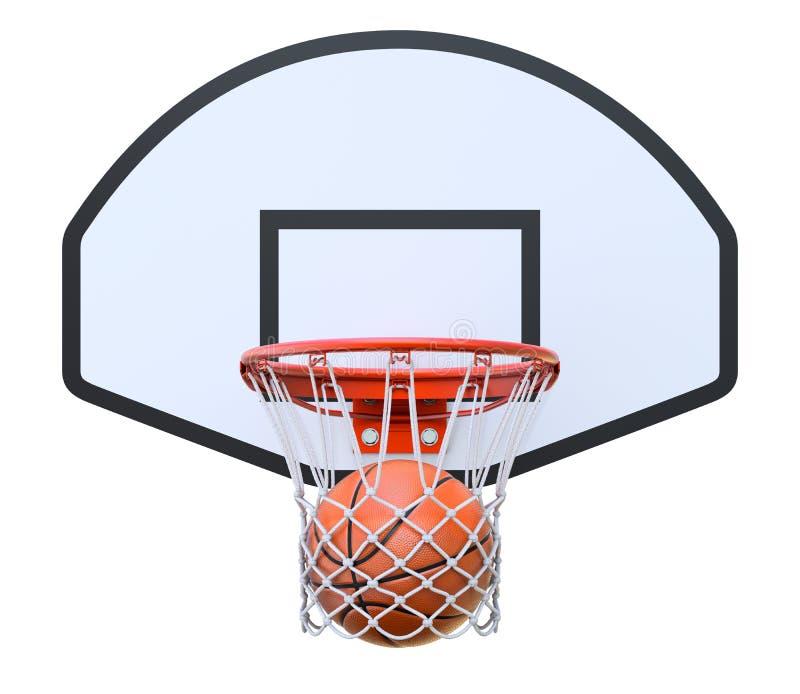 Koszykowa piłka w obręczu ilustracji