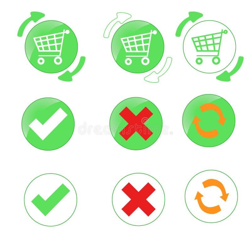 Koszykowe ikony obraz stock