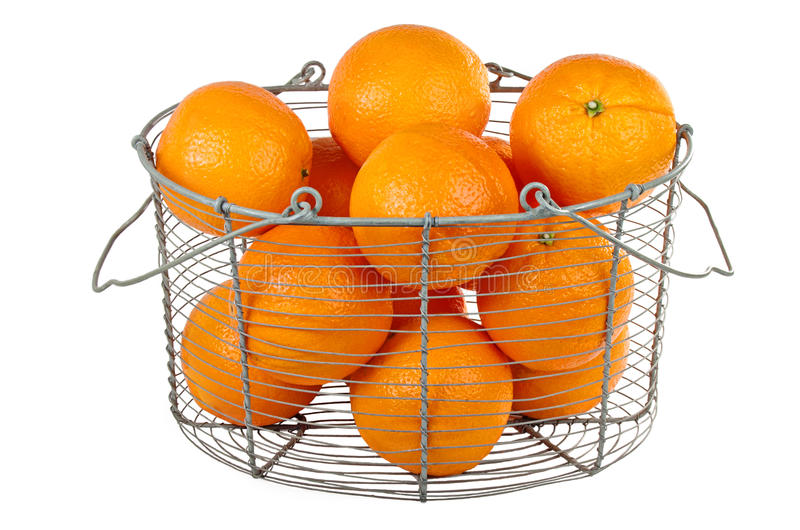 koszykowe pomarańcze obrazy stock