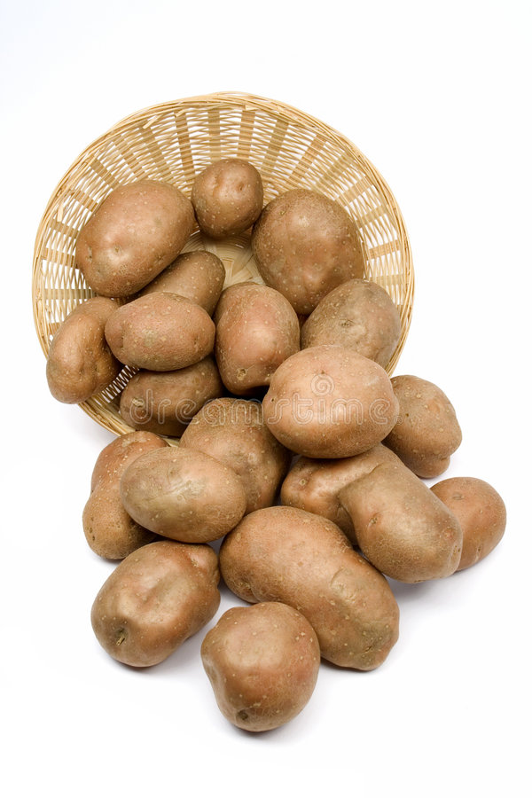 koszykowe ziemniaki obrazy royalty free
