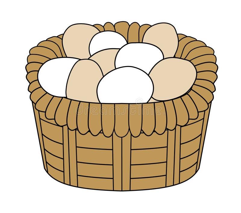 koszykowi jaj ilustracji