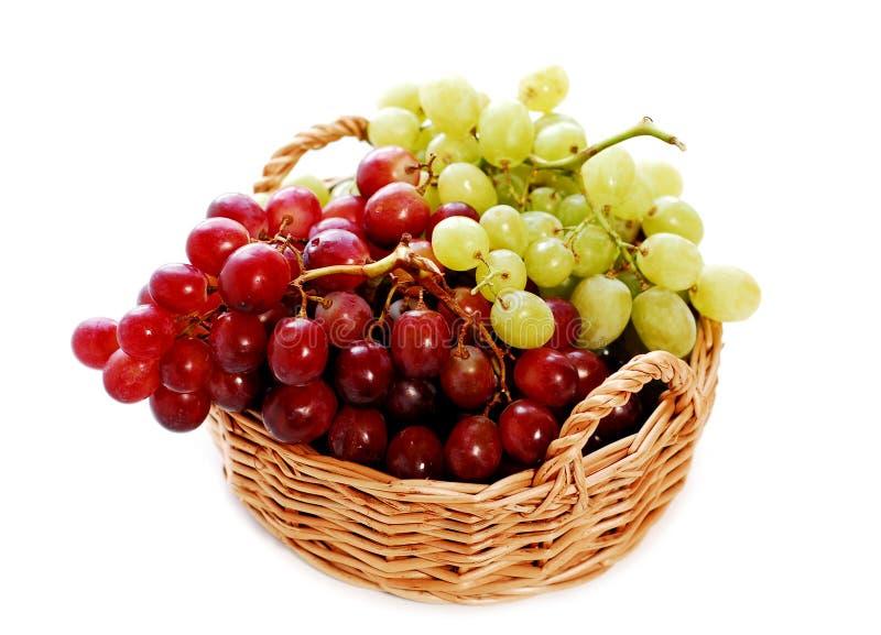 koszykowi winogron zdjęcia royalty free