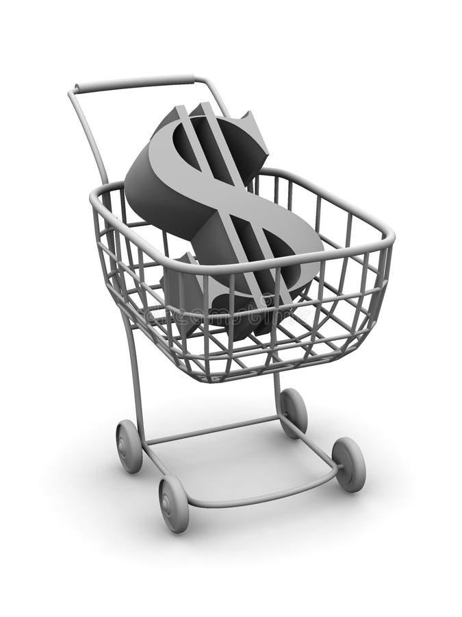 koszykowy dolar konsumentów ilustracji