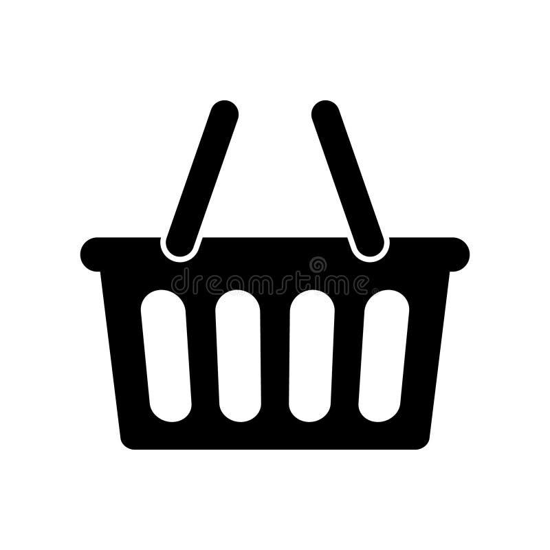 Koszykowy ikona wektor royalty ilustracja