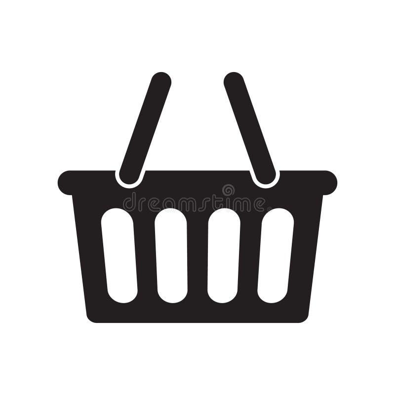 Koszykowy ikona wektor ilustracja wektor