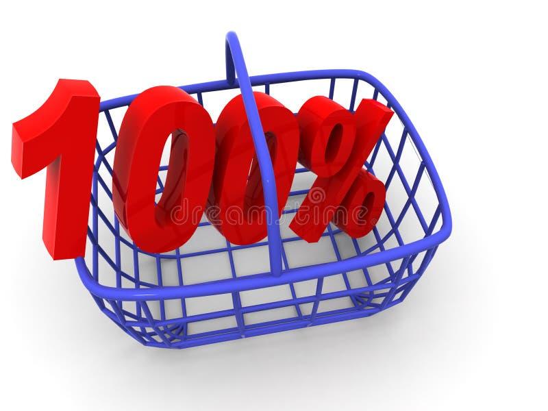 koszykowy procent konsumentów. ilustracji