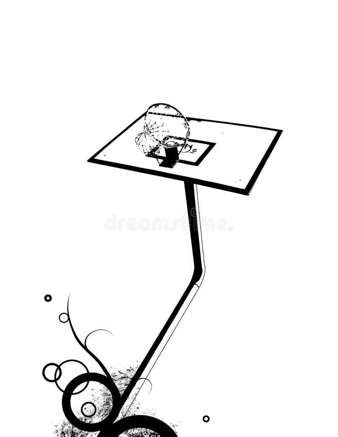 koszykowy wektor projektu abstrakcyjne royalty ilustracja