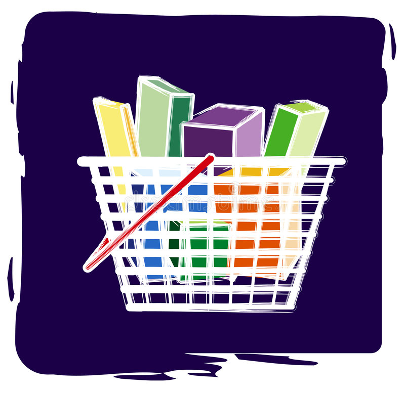 koszykowy zakupy ilustracja wektor