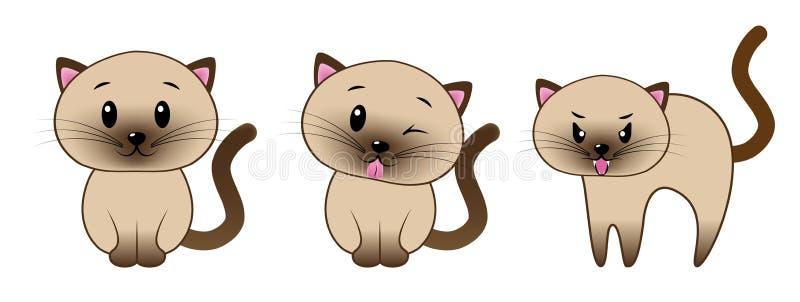 Kotów emojis obraz stock