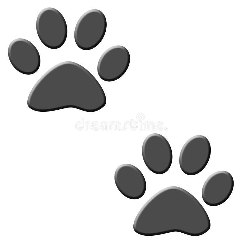 Kotów ślada Zdjęcie Stock