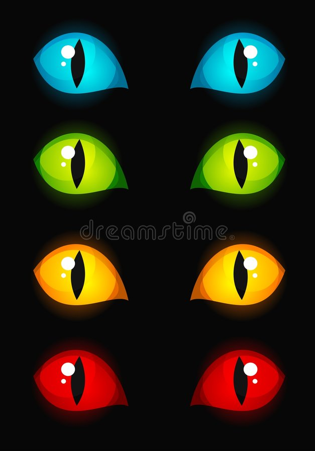 kotów oczy ilustracji