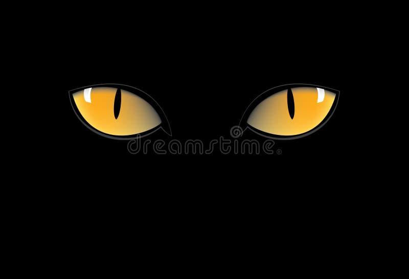 kotów oczy royalty ilustracja