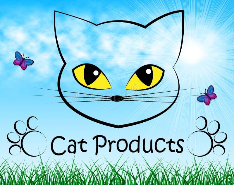 Kotów produkty Wskazują Puss zakupy I zakup royalty ilustracja