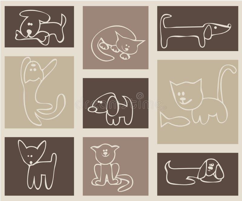 kotów psy zdjęcie royalty free