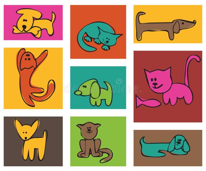 kotów psy zdjęcia royalty free