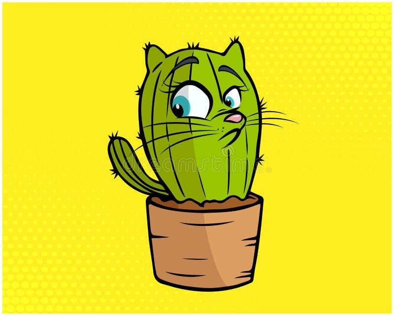 Kot śmieszna ilustracja 02 fotografia royalty free