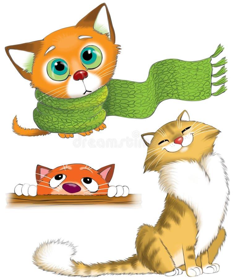 kot śmieszne ilustracja wektor