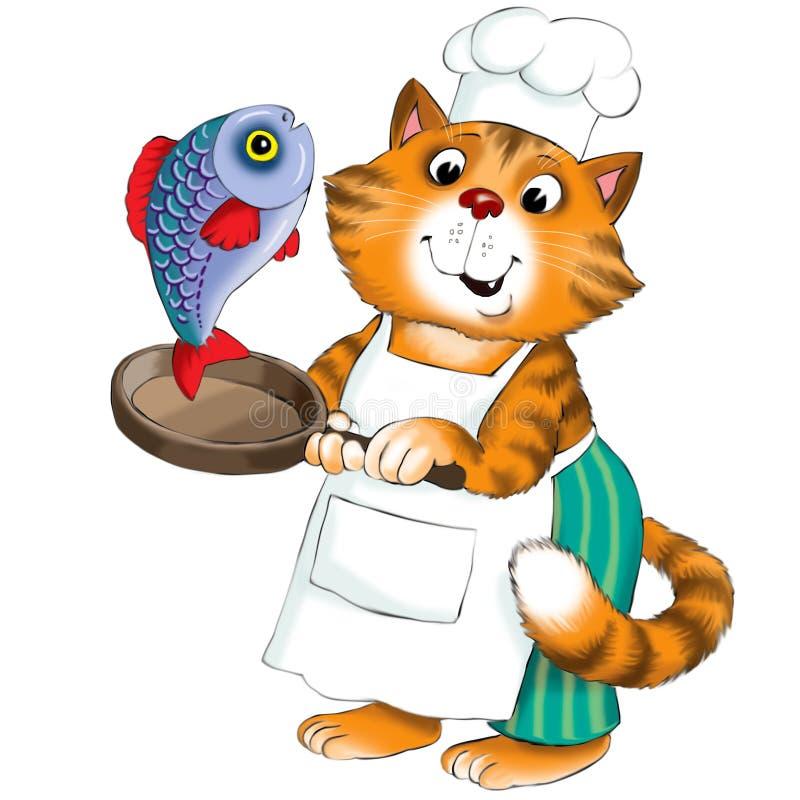 kot śmieszne ilustracji