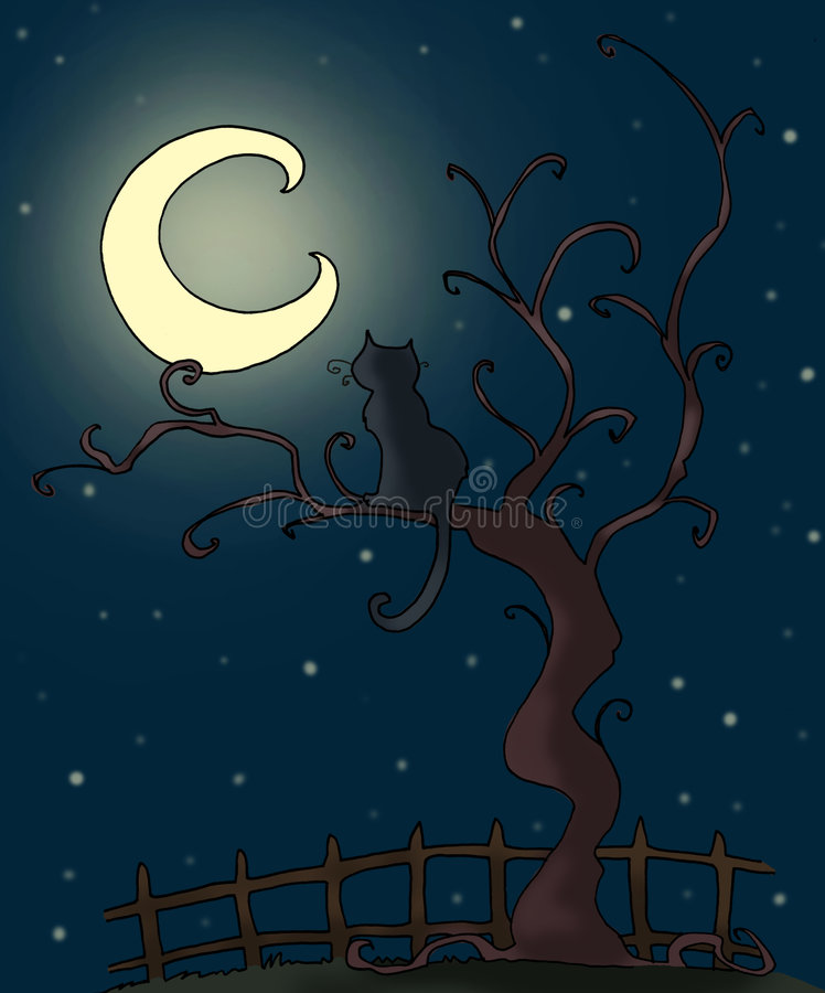 Download Kot ilustracji. Obraz złożonej z artystyczny, gazon, wieś - 8662155