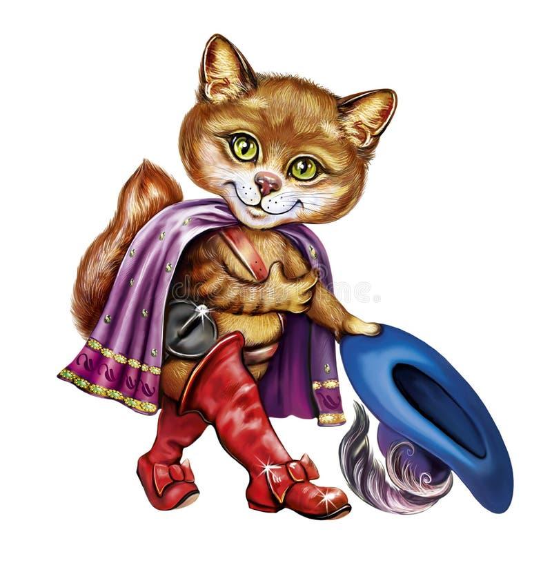 kot buty ilustracji