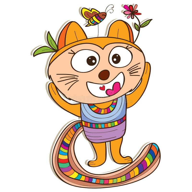 Kot duża głowa ilustracja wektor