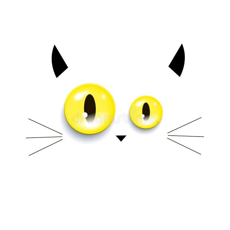 Kot figlarki wektorowy wąsy przygląda się zwierzęcego nos ilustracja wektor