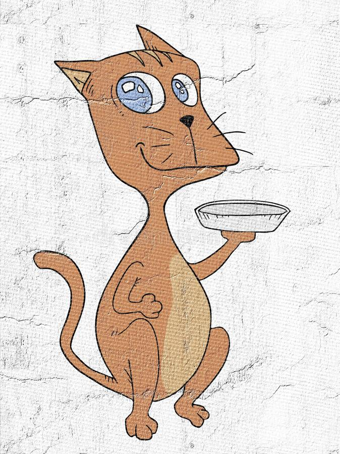 kot głodny royalty ilustracja