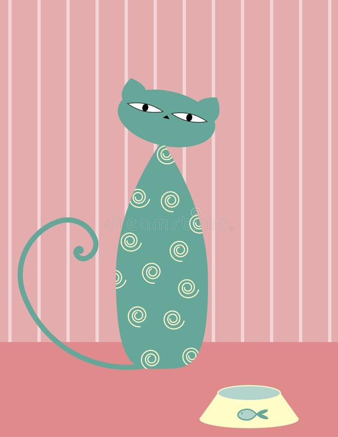 kot głodny ilustracja wektor