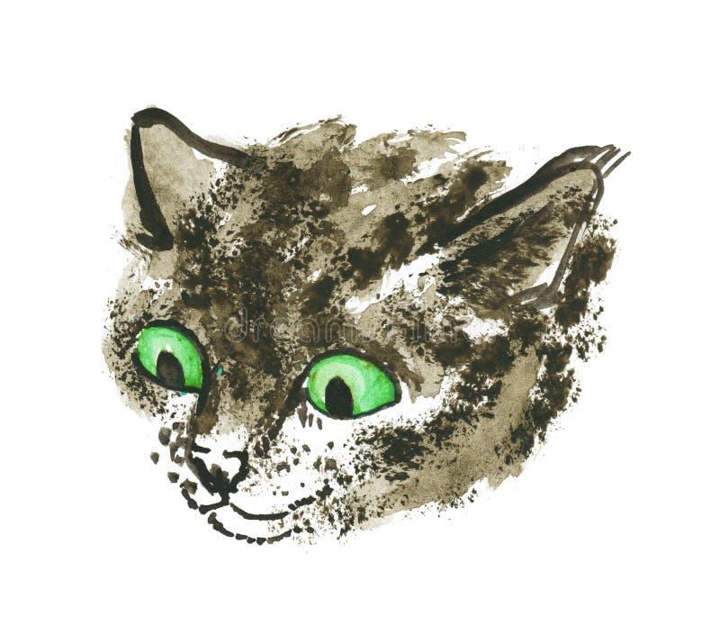 Kot głowa royalty ilustracja
