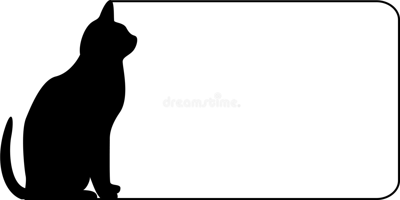 kot graniczny royalty ilustracja