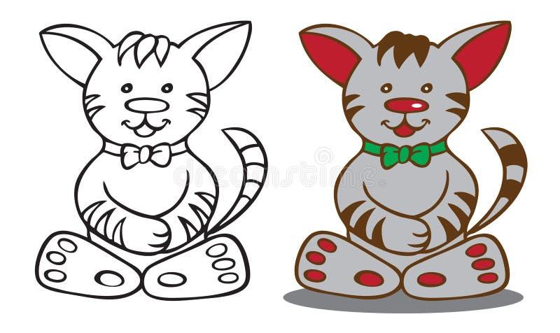 Kot kreskówki ilustracja ilustracji