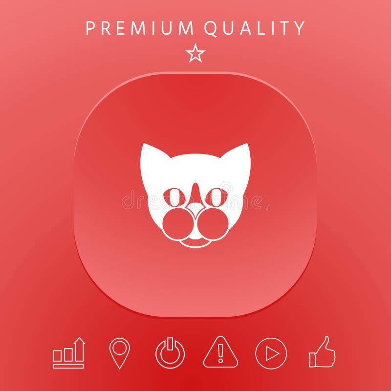 Kot - logo, gacenie szyldowa ikona ilustracja wektor