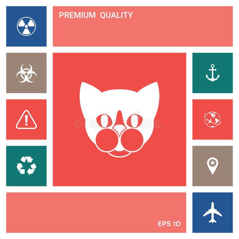 Kot - logo, gacenie szyldowa ikona elementy projektów galerii ikony widzą odwiedzić twój więcej moich piktogramy proszę royalty ilustracja