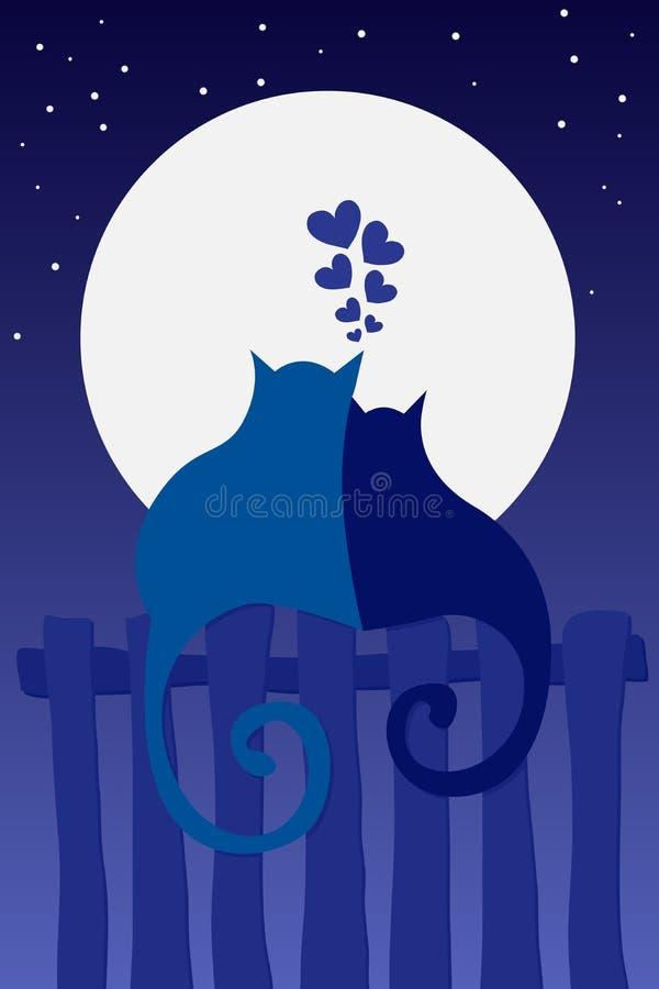 kot miłość royalty ilustracja
