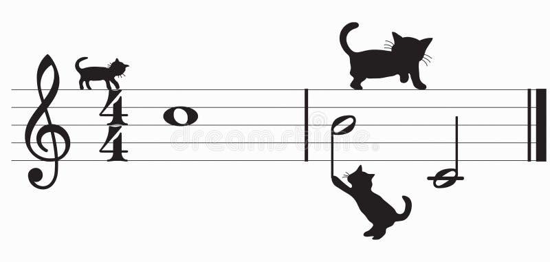 kot muzyki wektora ilustracji