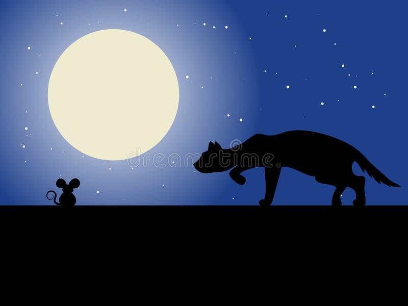 kot myszką ilustracji
