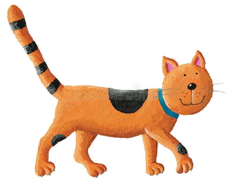 kot pomarańcze ilustracja wektor